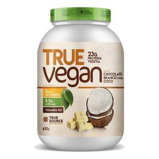 TRUE VEGAN 840G - TRUE SOURCE (CHOCOLATE BRANCO COM COCO)