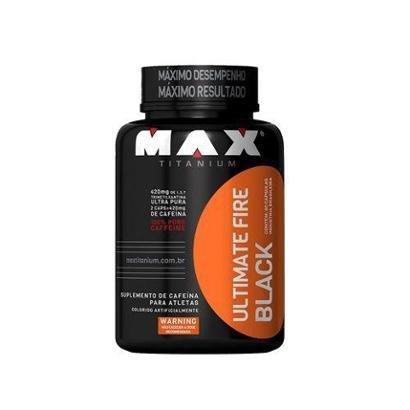 Ultimate Fire Black Max Titanium 60 Cáps + Porta Cáps - Unissex