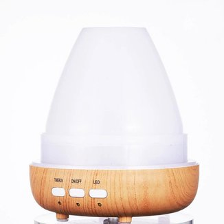 Umidificador Noturno LED Difusor LKJ-130 Madeira 600ml Luatek