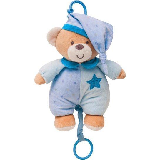 Ursinho Musical Estrelinha Azul Buba Baby - Azul