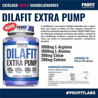 Vasodilatador Dilafit Extra Pump - 120 Capsulas - Profit Labs