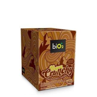 Vegan Crunchy Barra Caramelo e Cacau 10 Unidades 28G Bio2