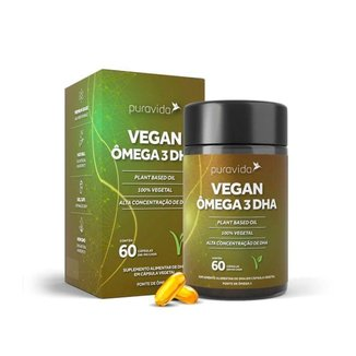 Vegan Ômega 3 DHA 60 Cápsulas Puravida