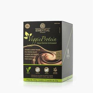 Veggie Protein Cacao 35g (455g) 13 Unidades - Essential Nutrition