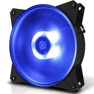 Ventoinha Cooler Master Masterfan MF120L 120mm Led Azul, R4-C1DS-12FB-R1