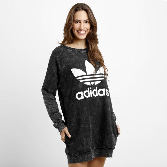 Creyente Reportero colateral  Vestido Adidas Track Denim Sweater | Netshoes