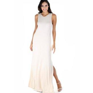 Vestido AHA longo liso com decote nas costas feminino