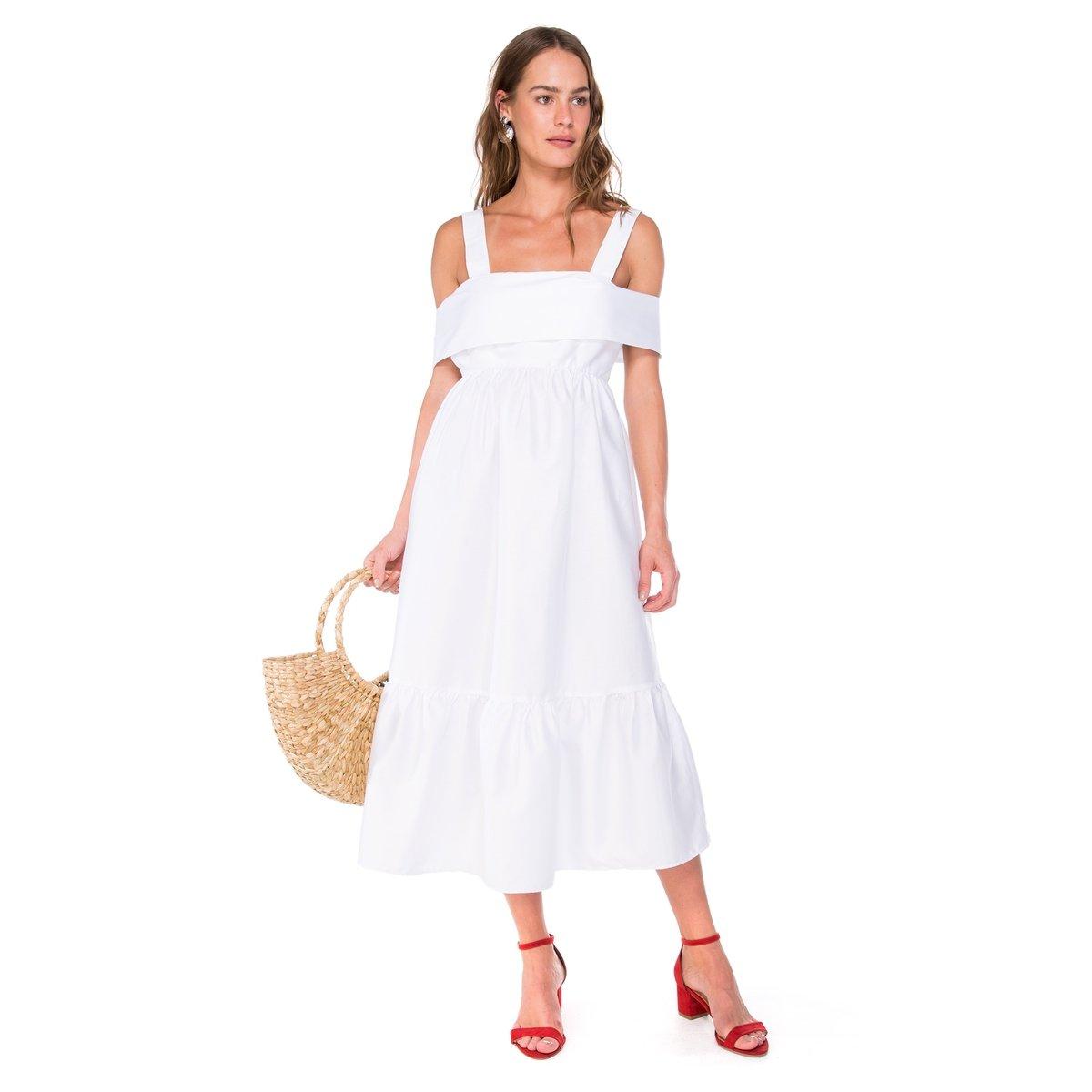 a362b678a Vestido Amaro Midi Algodão - Compre Agora | Netshoes