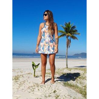 Vestido Beach Tennis Estampa Aquarela