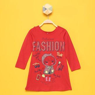 Vestido Bebê Bee Loop Profissional Fashion Manga Longa