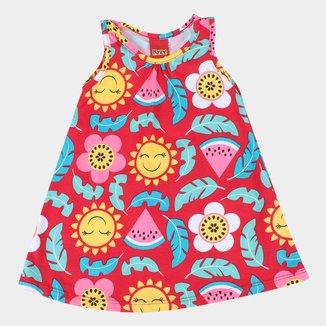Vestido Bebê Kyly Sol e Flores