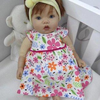 Vestido Bebê Menina Com Calcinha Feminino