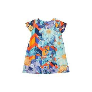 Vestido Bebê Menina Florais Laranja – Minitune