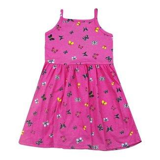 Vestido Bebê Menina Rovitex Borboleta Rosa
