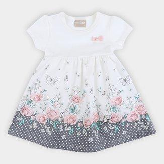 Vestido Bebê Milon Floral Body Interno