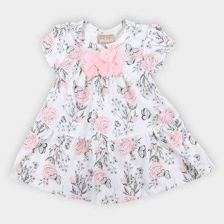 Vestido Bebê Milon Floral Com Body Feminino