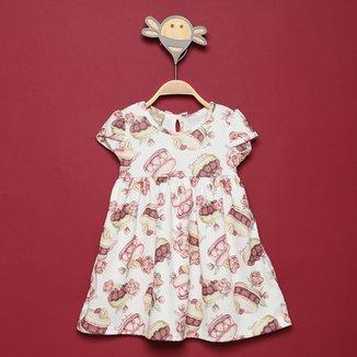 Vestido Bebê Milon Neoprene Estampado