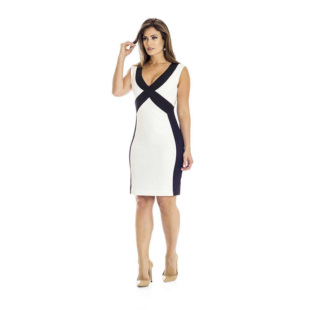 a491299d8ada7 Vestido Bicolor Ana Hickmann - Compre Agora   Netshoes