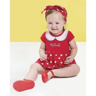 Vestido Brandili Cotton E Malha Estampa Bebê
