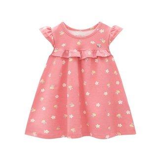 Vestido Brandili Cotton Estampa De Abelhinha Bebê