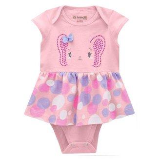 Vestido Brandili Malha Elefantinha Bebê