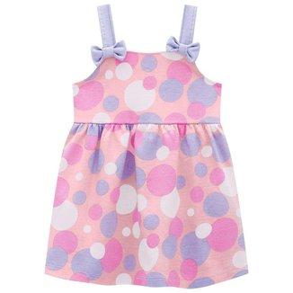 Vestido Brandili Malha Estampa Bolinhas Bebê