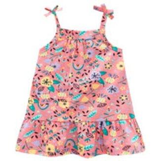Vestido Brandili Malha Estampa De Flores Bebê