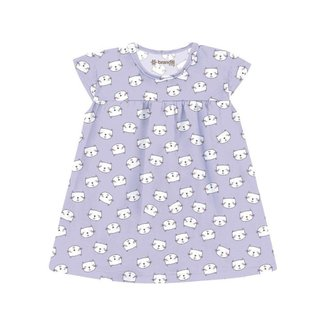 Vestido Brandili Malha Estampa de Gatinho Bebê