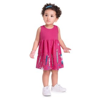 Vestido Brandili Malha Estampa De Pincéis E Lápis Infantil