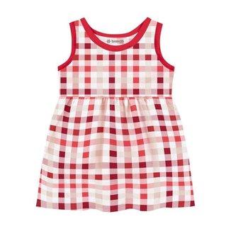 Vestido Brandili Malha Xadrez Bebê