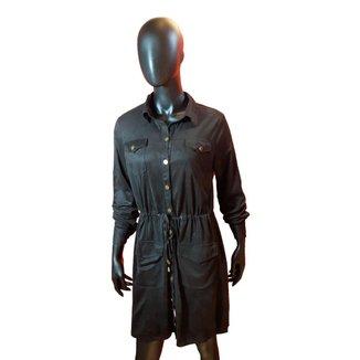 Vestido Chemise Com Bolsos Vesi80816  Preto