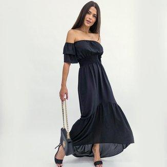 Vestido Cigana Longo Grace Preto LA LIMA