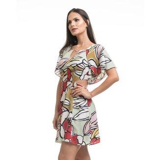 Vestido Clara Arruda Curto Manga Detalhe  50494