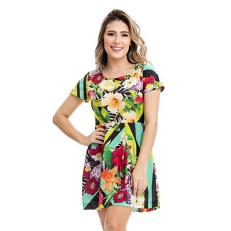 Vestido Clara Arruda Manga Curta Estampado 50276