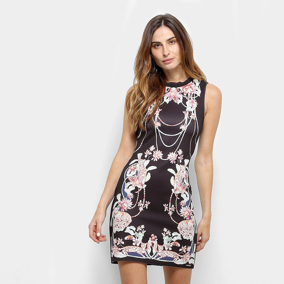 f3c56cba5 Vestido Colcci Curto Tubinho Estampa Floral | Netshoes