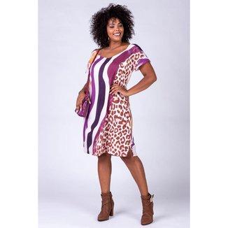 Vestido Curto Almaria Plus Size Rery Estampado