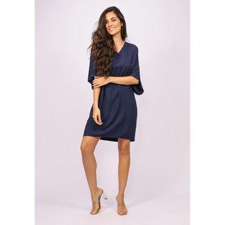 Vestido Curto Bata Azul Marinho - GG - Veste do 46 ao 48
