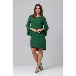 Vestido Curto Viscose Manga Ampla Balli Verde Musgo - GG - Veste do 46 ao 48