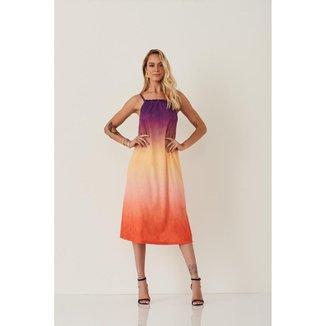 Vestido de Alça Tie Dye Natural Basic (1230086)