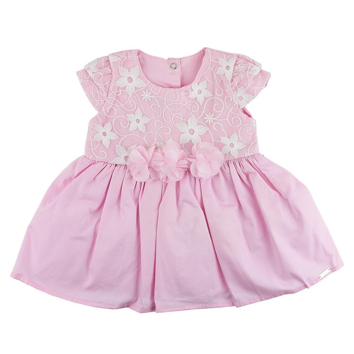 Vestido De Bebê Paraíso Moda Bebê Em Renda - Compre Agora  6066993e069
