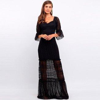 Vestido Elora Longo Rendado Feminino