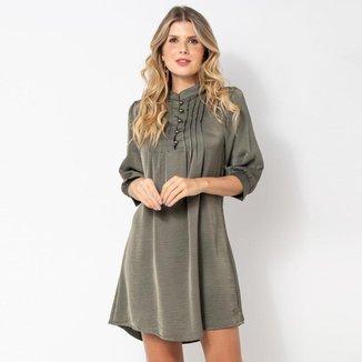 Vestido Elora Pregas Feminino