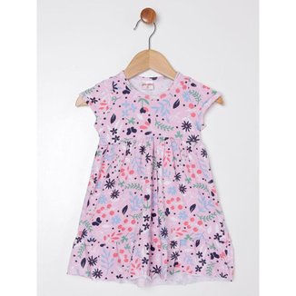 Vestido Estampado Infantil Para Menina - Rosa