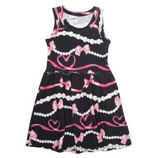 Vestido Estampado Infantil Rovitex Kids Preto 2