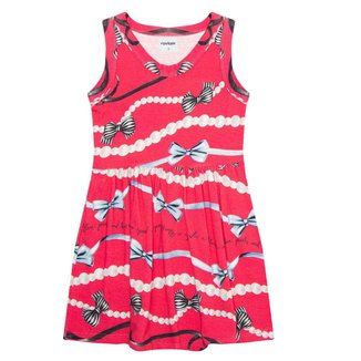 Vestido Estampado Infantil Rovitex Kids Vermelho 3