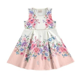 Vestido Estampado - Milli & Nina - Lukas Kids Moda Infantil