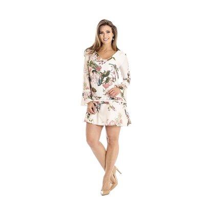 52d6e92425f80 Vestido Evasê Floral Ana Hickmann - Compre Agora   Netshoes
