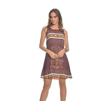 Vestido Feminino Viscose Ves79099 Bordô