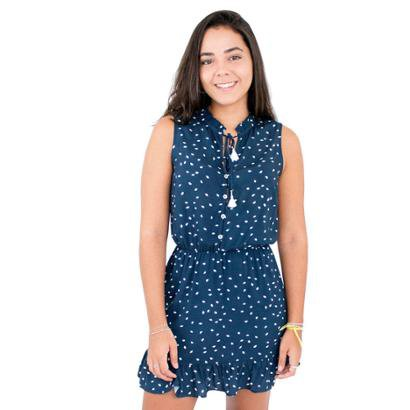 Vestido Golinha Pregueada Side B Feminino - Feminino