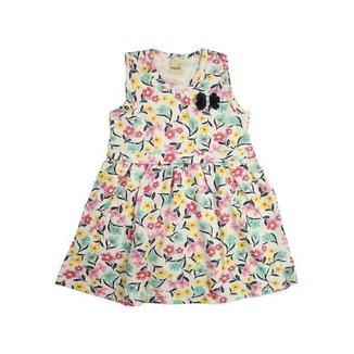 Vestido Infantil Aurora Floral Menina